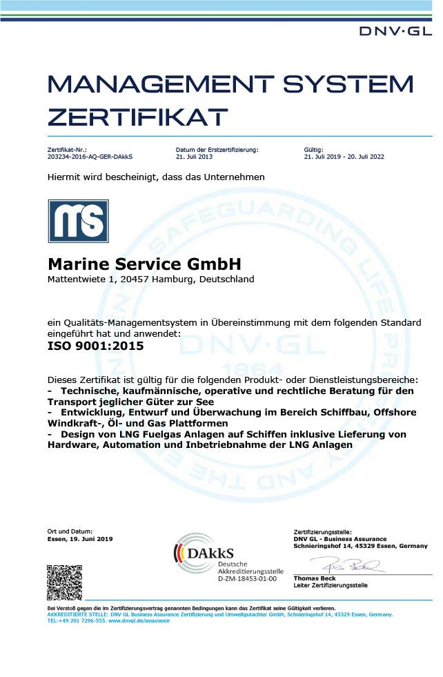 ISO 9001:2015 german